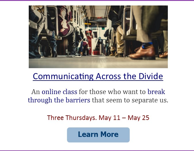 Communicating Across the Divide ad box for website